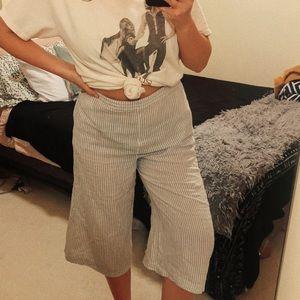 Striped Flare Crop Pant